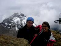 Climbing to Illiniza North Volcano Summit in Ecuador Andes